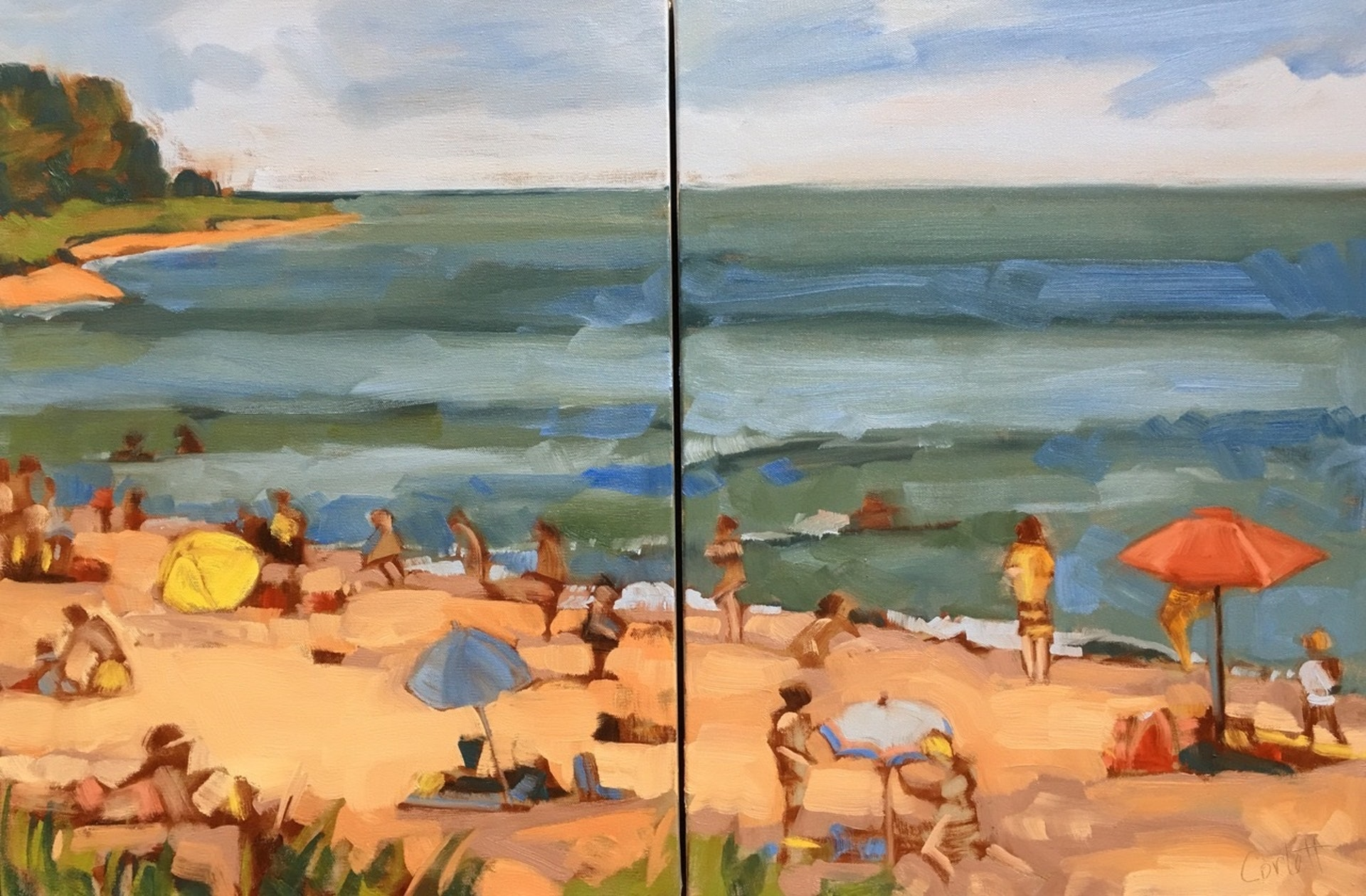 Hot Fun in the Summertime 24x36 dyptych $1700