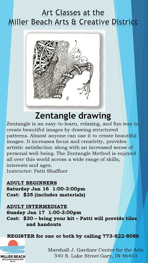 Zentangle adult drawing classes - Beginner and Intermediate
