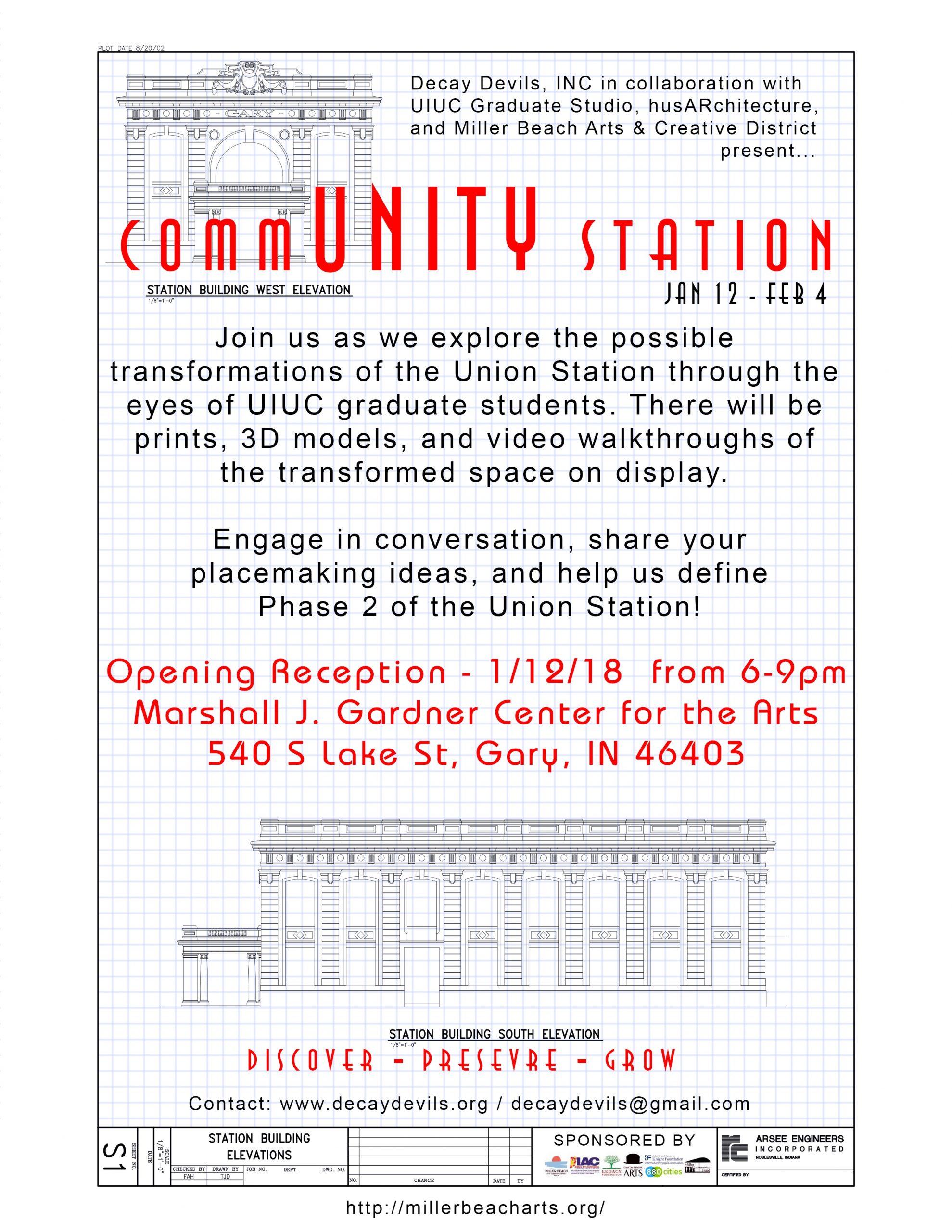 Opening Reception: CommUNITY Station exhibit
