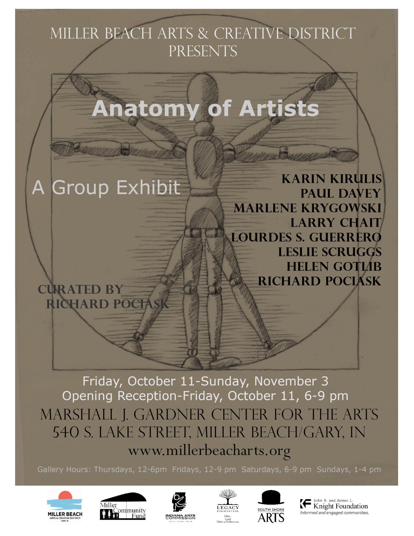 Flyer Richard Pociask Anatomy of Artists 2019 01 11